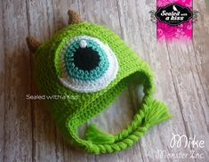 Monster Inc. hat Mike Wazowski hat Monster by SWAKLovelyHandmade, $28.00