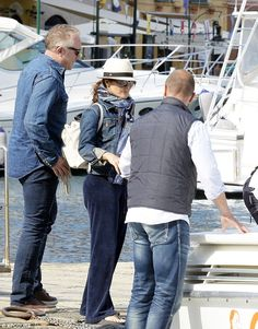 Salma Hayek and husband Francois-Henri Pinault rock matching jeans and jackets as they enjoy family holiday in Portofino | Daily Mail Online