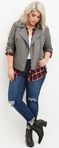 Casual but comfy plus size fall outfits ideas 04