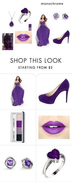 """Purple Head To Toe"" by amanda-weasley ❤ liked on Polyvore featuring Madison James, Brian Atwood, Clinique, Fiebiger, David Yurman and Allurez"