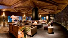 Amazing!  Love the fire pit....S'mores!  Gstaad, Switzerland