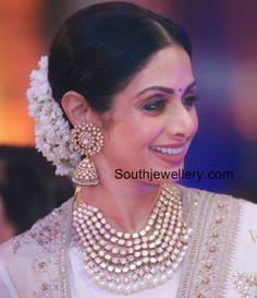 Sridevi kapoor in Polki Diamond Jewellery photo