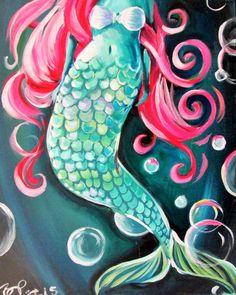Mermaid We've been asked to paint a mermaid. This one is beautiful.  #CreativeSoulsArtLounge