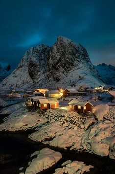 Hamnøy, Lofoten, Norway   What seemed hours before sunrise the lovely hamlet of Hamnøy, on Lofoten. At least the snow clouds had withdrawn for a time and it was possible to see something!…  For more check out my website at david Bridgwater photography  Ca