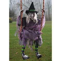 The Swinging Witch Tall is the perfect addition to your 2019 Halloween setup. Impress everyone by displaying your Halloween spirit by purchasing this decoration from Costume SuperCenter! Halloween Prop, Halloween Party Snacks, Scary Halloween Decorations, Outdoor Halloween, Halloween Season, Funny Halloween Costumes, Halloween Projects, Spirit Halloween, Halloween Stuff