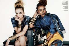 V magazine spread- 90's hip hop inspired fashion. Trend of 2013