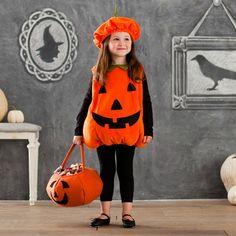 Harper with spider headband Pumpkin Costume  sc 1 st  Pinterest & Wicked Craft Week: Handmade Kidu0027s Pumpkin Costume with K from Cozy ...