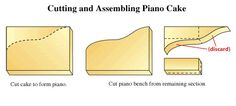 piano cake assembly