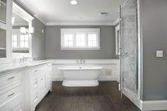Calm White and Grey bathroom Schemes