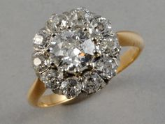 Antique cluster ring. This is most beautiful ring I have ever seen!!! Ever.