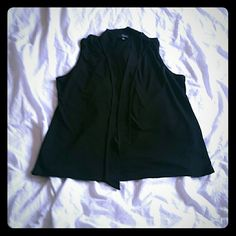 Black Top | The Limited This is a great black top from The Limited. This has a really cute tie that is attached to the color of the shirt. This is only been worn a 2 - 3 times. The Limited Tops Blouses
