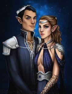 "xdeadonarrivalx: Rhys and Feyre """
