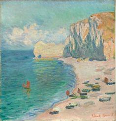 Claude Monet (1840–1926),Étretat: The Beach and the Falaise d'Amont, 1885.  oil on canvas; 69,5 × 66 cm