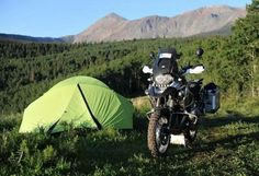 #Motorbike  a tent. Is there a better way to see the world? If there is, we don't want to know about it!