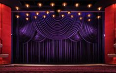 Indiana University Musical Arts Center replaced their Grand Drape with drapes and swags in 27oz Charisma, using over 1,100 yards of fabric!!!
