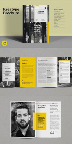 kreatype brochure template corporate business brochure template indesign brochuretemplate templates