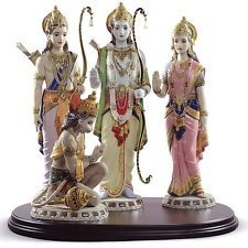 Lladro Spirit of India Hindu Rama Sita Hanuman Lakshman BNIB 1963 1972