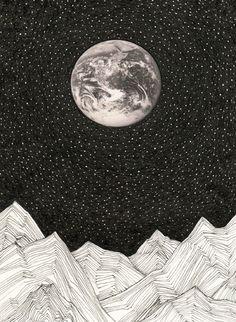 modern art, illustration, moon, mountains, nature art (scheduled via http://www.tailwindapp.com?utm_source=pinterest&utm_medium=twpin&utm_content=post320907&utm_campaign=scheduler_attribution)