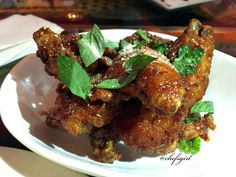 Special: Chicken Wings in a Vietnamese Fish Sauce Glaze.