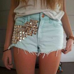 Check out these studded shorts on Pose!