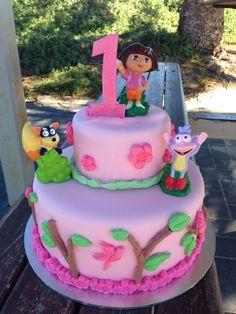 Dora first birthday cake