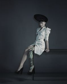 Viktoria Modesta photographed by Nadav Kander for the New York Times Magazine, 2013. See the Exposure column at Design Observer. http://designobserver.com/feature/exposure/38719