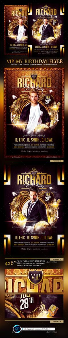 Billionaire Bash Party Flyer Party flyer, Billionaire and Add remove - birthday flyer template