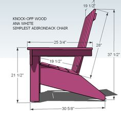 Adirondack Chair Plans | ... Ana's Adirondack Chair | Free and Easy DIY Project and Furniture Plans