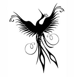 Illustration about Black phoenix bird figure isolated over white. Re-birth concept. Illustration of figure, flame, cartoon - 20322018 Phoenix Bird Tattoos, Phoenix Feather, Phoenix Art, Phoenix Rising, Dark Phoenix, Bird Wall Decals, Wall Art, Wall Sticker, Fenix Tattoo
