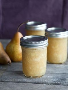 Pear Jam with Honey -To make calcium water: cup water tsp calcium powder To make jam: 4 cups pears, peeled, cored and mashed cup honey cup lemon or lime juice 3 tsp pectin powder 4 tsp calcium water Home Canning, Canning Recipes, Pear Recipes, Jelly Recipes, Food Storage, Jam And Jelly, Ketchup, Favorite Recipes, Sauces