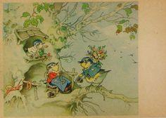 FRITZ BAUMGARTEN - Vogelmann bringt Blumen zum Geburtstag - c1960 | eBay