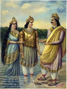The Presentation By Ganga Of Her Son Devavrata To His Father Santanu http://www.findmessages.com/ganga-and-shantanu-love-story-from-mahabharata