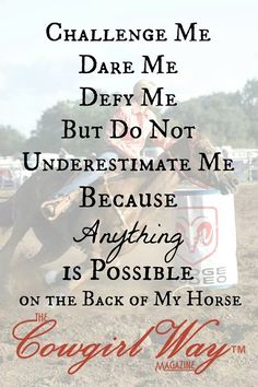 Anything is possible on the back of my horse <3