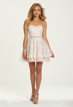 Two Tone Lace with Tulle from Camille La Vie and Group USA