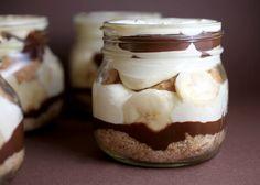 Chocolate peanut butter banana pudding