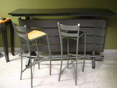 Forza Metal | Residential  Portable steel bar www.forzametal.com Steel Bar, Bar Stools, Custom Design, Furniture Design, Metal, Modern, Home Decor, Bar Stool Sports, Trendy Tree