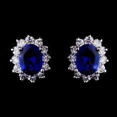 Kate Middleton Inspired Sapphire Blue Earrings - beautiful!