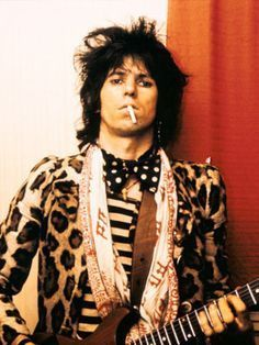 Fashion inspiration: Keith Richards. I don't know what's going on with this, but I love it.