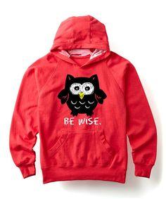 Love this Raspberry 'Be Wise' Hoodie - Girls on #zulily! #zulilyfinds