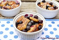 Blueberry and French-Toast Bake/a delicious andsimple dessert for when you're craving calorie bombs