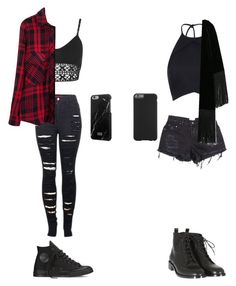 """""""Going to a BMTH concert."""" by dude-iloveyouxo ❤ liked on Polyvore featuring 2LUV, Miss Selfridge, Converse, Native Union, Rebson, Yves Saint Laurent, MANGO and Case-Mate"""