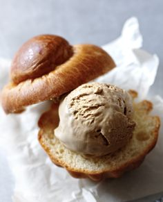 This no-churn coffee ice cream is dangerously easy. Serve it in a brioche for maximum enjoyment!