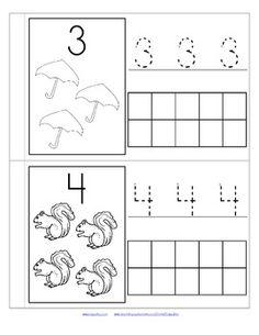Little Number Book for Fall - Low Prep Distance Learning Montessori Education, Preschool Learning Activities, Preschool Math, Preschool Worksheets, Math Classroom, Math Sheets, Activity Sheets, Letter S Worksheets, Numbers Preschool