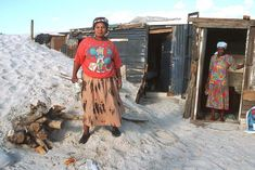 Women with shacks being overrun by sand dune Cape Town, Dune, South Africa, Colour, Women, Fashion, Moda, Fashion Styles, Color