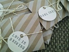DIY Tea Favour great idea for kitchen tea Tea Favors, Tea Wedding Favors, Diy Wedding, Wedding Gifts, Dream Wedding, Diy Favours, Coffee Favors, Wedding Ideas, Wedding Presents For Guests