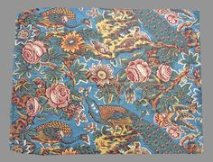 English roller printed chintz 1830-40 I would love this pattern for my new kitchen chairs. I could build my whole kitchen pallet around this pattern.