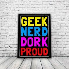 Retro Geek-Chic Poster, A3 print, wall art, home decor, geek, nerd, retro: Amazon.co.uk: Kitchen & Home