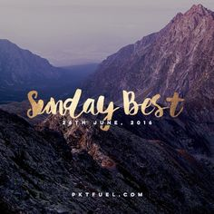 The Sunday Best - Some of our most popular content and favourite discoveries during the last week including Seth Godin, Invisibilia and Carrie's Beanies for Brain Cancer ➔ <<CLICK THE IMAGE TO READ MORE>>