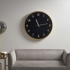 Martha Stewart Watsonwall Clock in Black/Gold - Olliix Features: Traditional StyleClock Frame:Iron Clock Face: MDF With Paper Back Panel: MDFWood Finish:GoldMetal Finish - Accessories:Clock frame: painted Gold;Made in ChinaSize: Color: Black/Gold Wall Clock Numbers, Gold Wall Clock, Black Gold, Black And Brown, Martha Stewart Home, Black Clocks, Clock Decor, Gold Walls, Home Decor Outlet