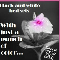 #black and white bed sets  Check out what we at Best Top Picks have chosen as our fave 5 in black and white to stir your design flare!